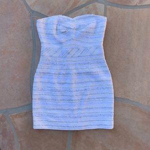 Trina Turk Textured Strapless Mini Dress